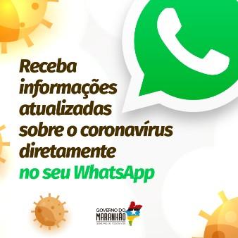Receba informações atualizadas sobre coronavírus no seu WhatsApp